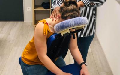 Les bienfaits du massage assis au travail